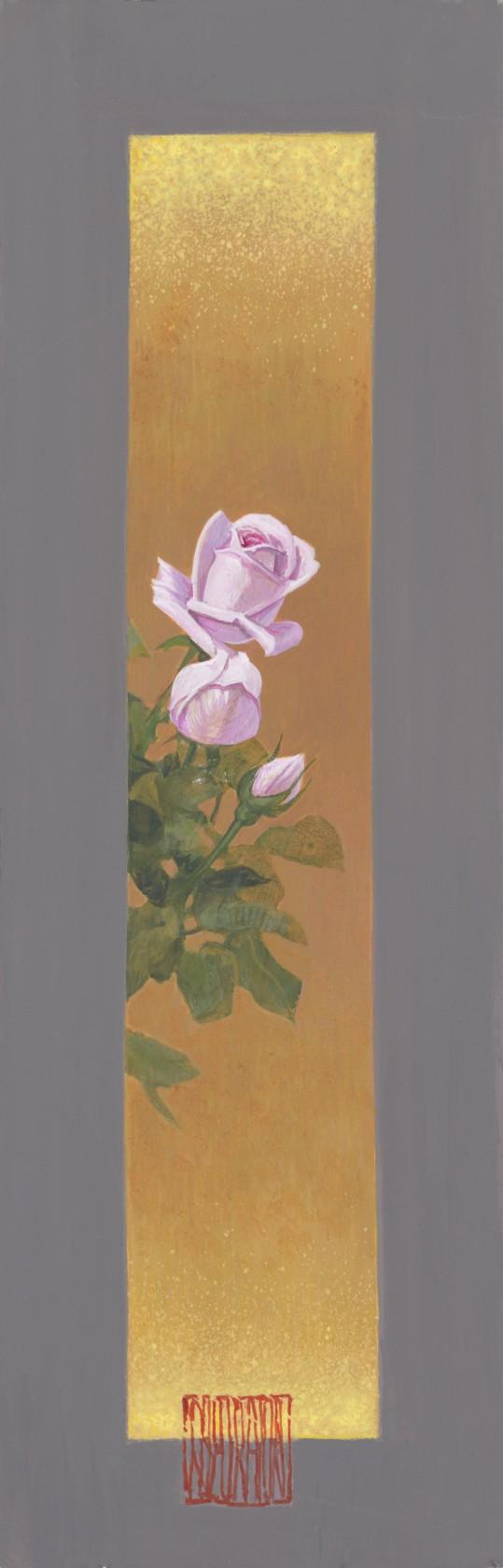 薔薇図 短冊